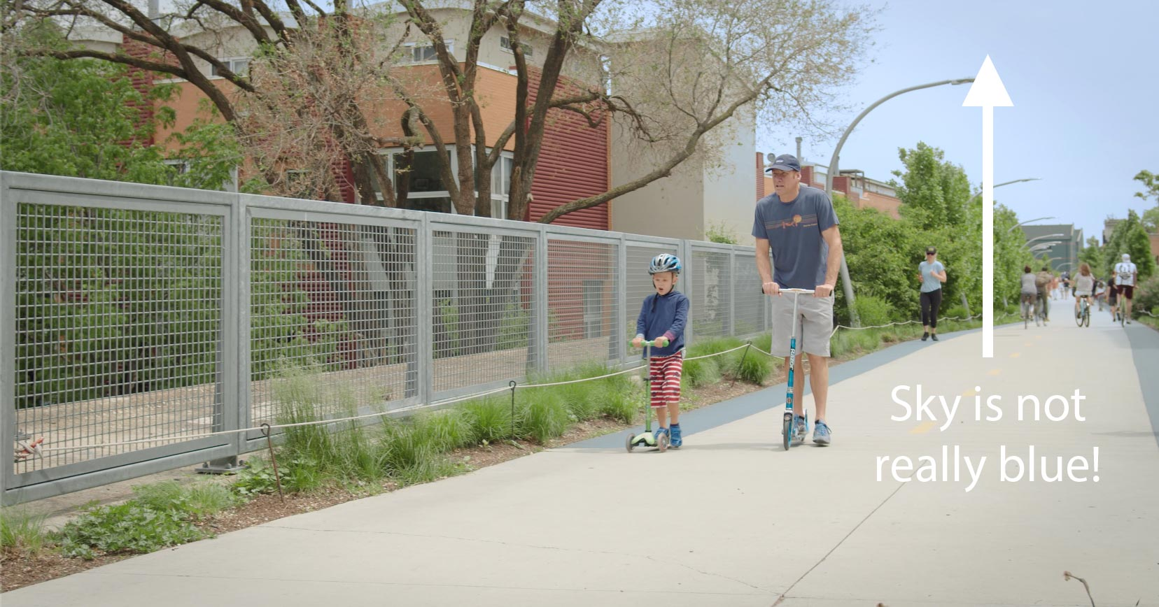 Father and Son on the 606 Trail